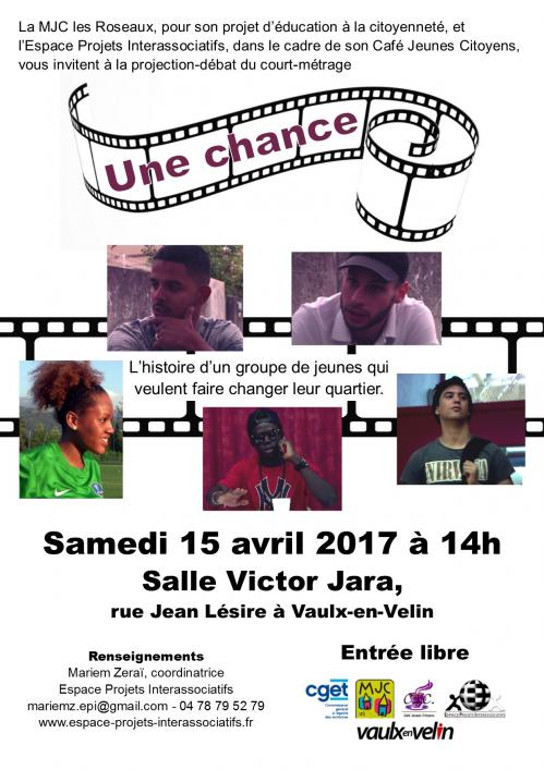 2017 04 15 affiche projection une chance 1