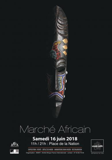Affiche marche africain