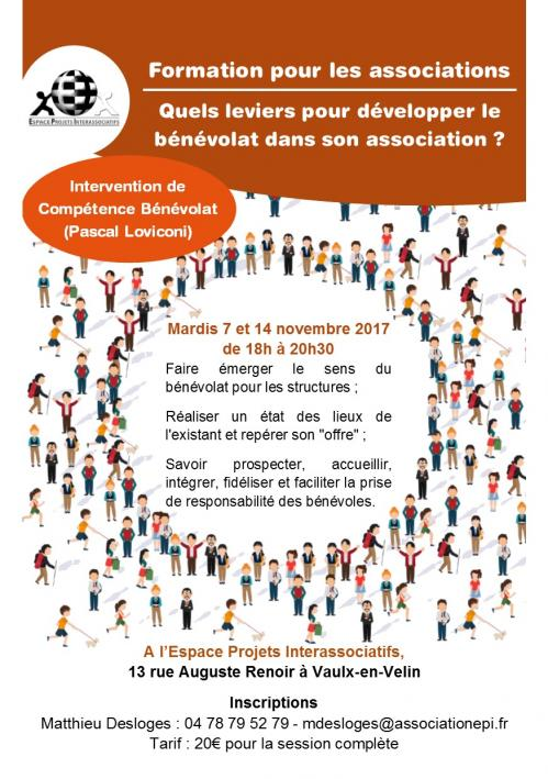Flyer formation developper le benevolat associatif